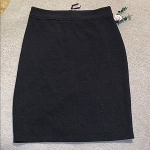 Ann Taylor textured pencil skirt black